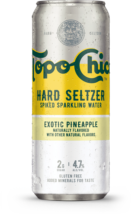 Topo Chico exotic pineapple can
