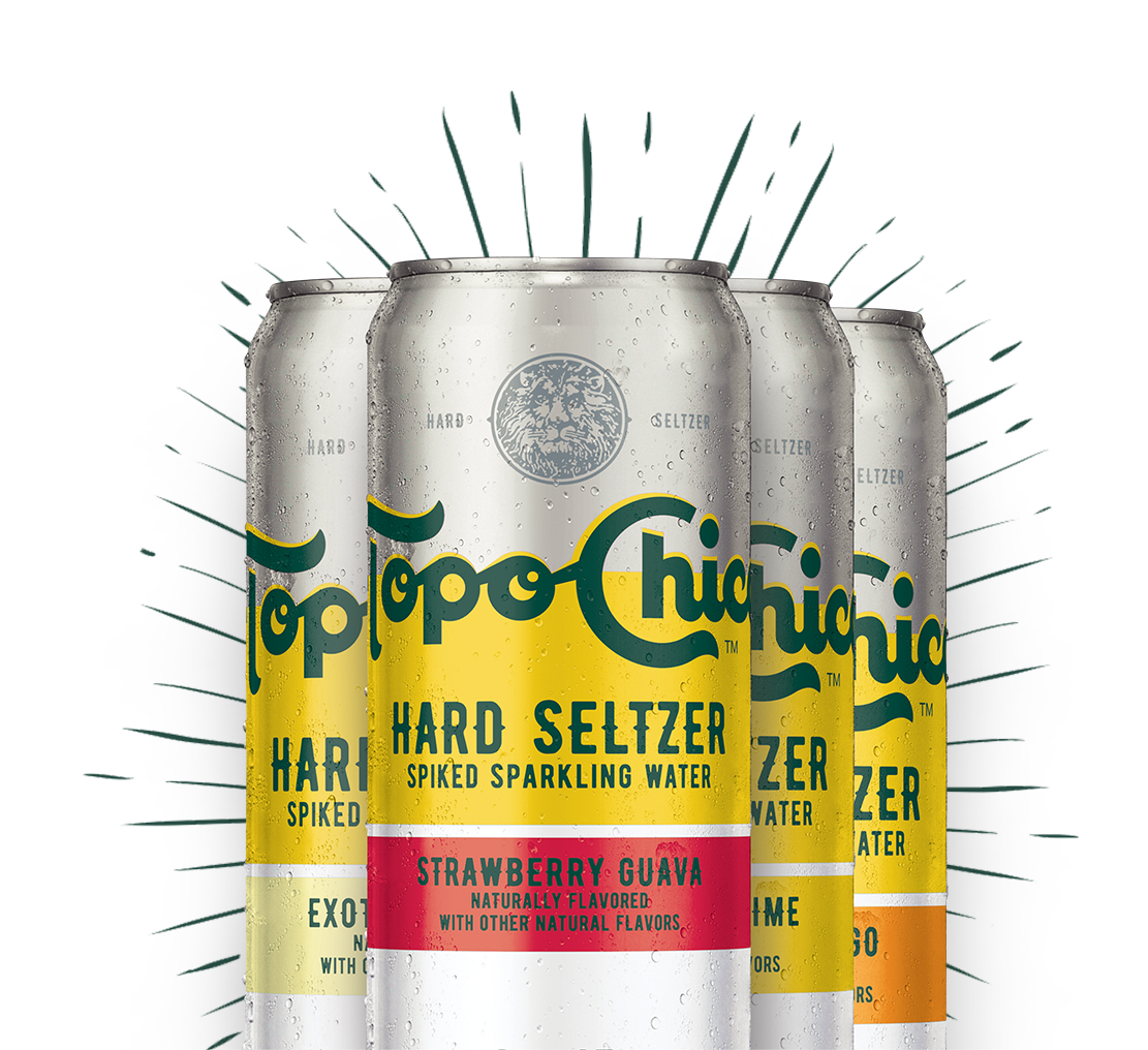 Topo Chico cans