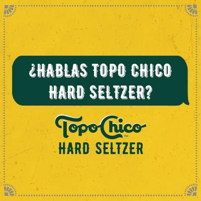 Like when someone buys you a Topo Chico Hard Seltzer. Oh, and gives you a beso, too. #HispanicHeritageMonth